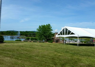 30 Wide Frame Tent on a Perfect Wedding Day