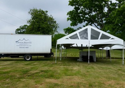 Tent Delivery to Taylor Family Reunion
