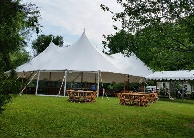 66' x 73' sail cloth wedding tent