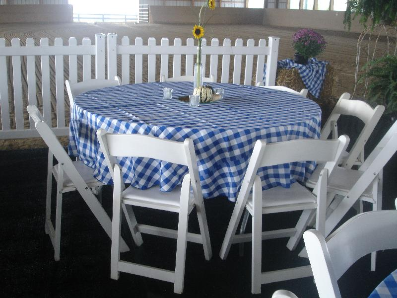 48 inch round table Tables   Gibson Rental 48 inch round table